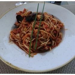 Frutti di mare spaghetti garnélarákkal