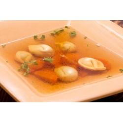 Húsleves házi csirkés tortellinivel és zöldségekkel