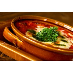 Kemencében sült húsos lasagne házi pestóval