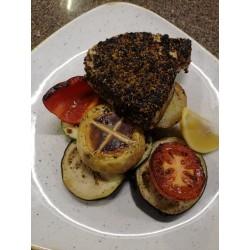 Borskéregben sült vörös tonhal