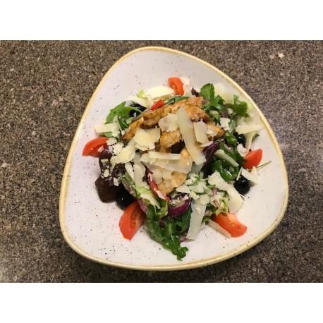 Pisa-i saláta pirított csirkemell csíkokkal